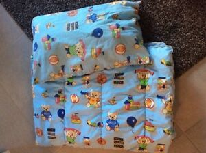 Gently used baby comforter & pillow