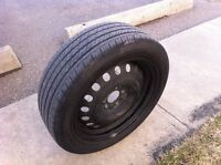 Used 2 pcs all season tires and rims $40 OBO