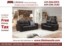 BRAND NEW Genuine Leather SOFA SET (COUCH + Love seat )