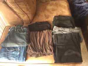 Lot of Maturnity pants and skirt