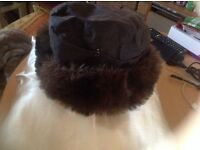 Ladies fur hat jack furply size: M/L for sale £1