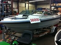 89 16' Cadorette skipper 166 W/ 96 115hp Johnson outboard