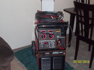 Start welding with a supper MP350 lincoln welder