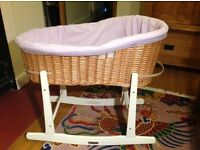 Moses wicker basket and stand