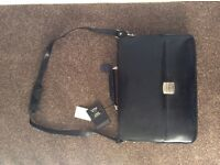 Unused Black Leather Briefcase for Sale
