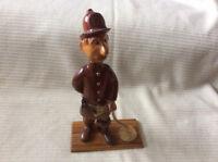 Vintage Wooden Fireman