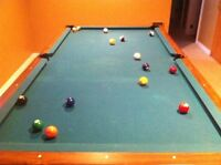 Slate pool table and accessories