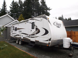 Snowbirds -27 ft. Keystone Cougar travel trailer