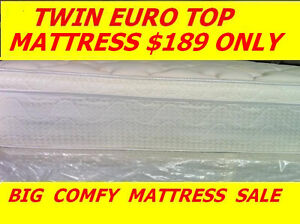 BRAND NEW TWIN EUROTOP MATTRESS $189 ONLY HUGE SAVINGS FOR YOU
