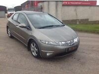 24/7 Trade sales NI Trade prices for the public 2007 Honda Civic 2.2 -I CTDI ES 5 door grey