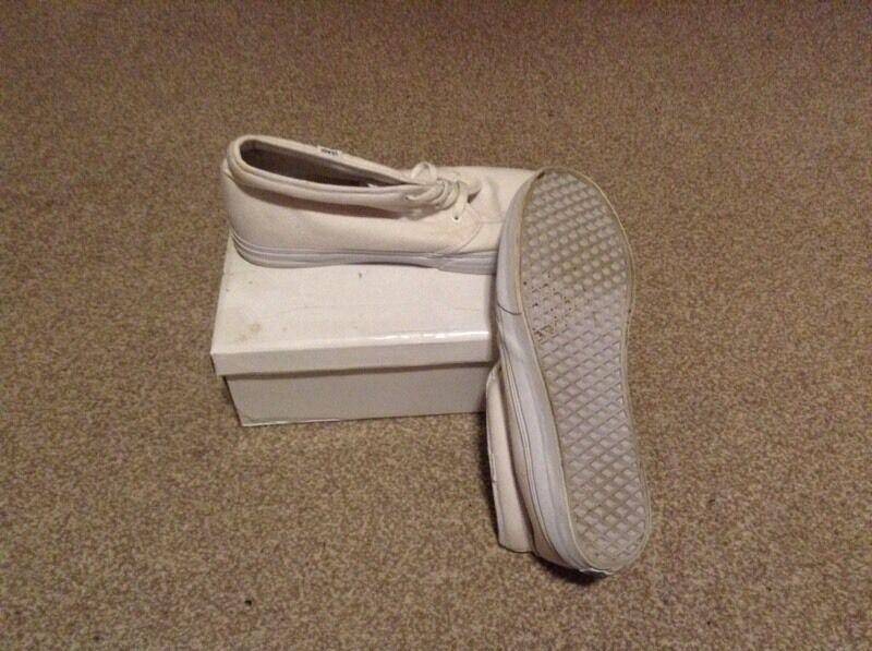 White Vans Chukka Boots Size 12