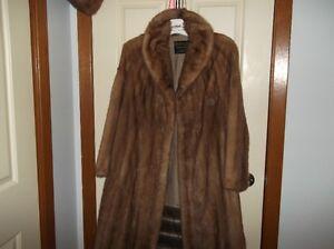 Mink coat, medium brown, flattering Princess styling Peterborough Peterborough Area image 4