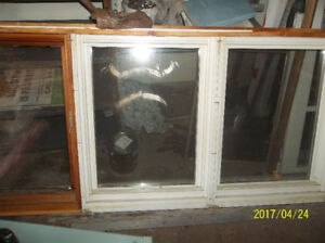 WOODEN WINDOW WITH 3 PANE GLASS