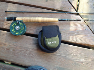 Fly fishing, Orvis CFO 1Disc and G Loomis GL3 fly rod With line