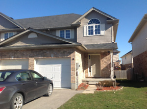 Beautiful three bedrooms townhouse for rent from Jan. 1
