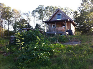 Eco-Cabin OR building lot 5.6 acres near Lunenburg