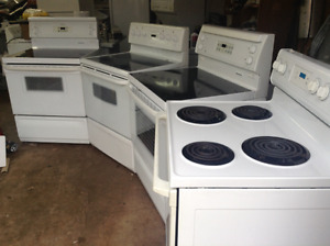 3 stoves and a wall oven plus, all with warranty