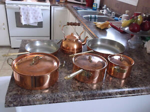 Tagus copper cookware set