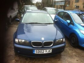 BMW 318 ISE 2002 MANUAL SALOON LEATHER AND SPOILER MOT TILL JUNE