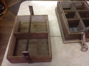 Rustic carry boxes