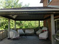 DECK ROOFS...FRONT PORCHES..HOT TUB AREAS ...PORCH ROOFS