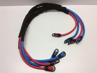 Reistance Bands Color Coded 2 Red 2 Blue Nice Condition Preowned (5 Band Color Code)