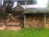 Seasoned firewood hardwood