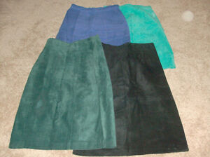 5 Suede/leather skirts...to wear or to sew or to make crafts London Ontario image 2