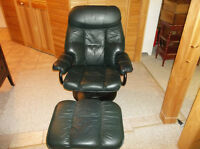 Green Leather Reclining Gamer Chair