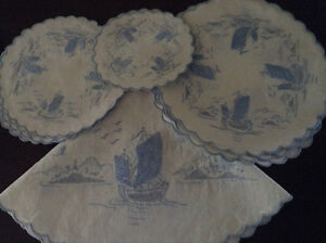 Antique/Vintage Linen & Silk Embroidered Doilies