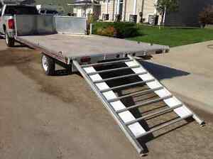 2007 STF Aluminum Drive on/off Atv or Sled Trailer