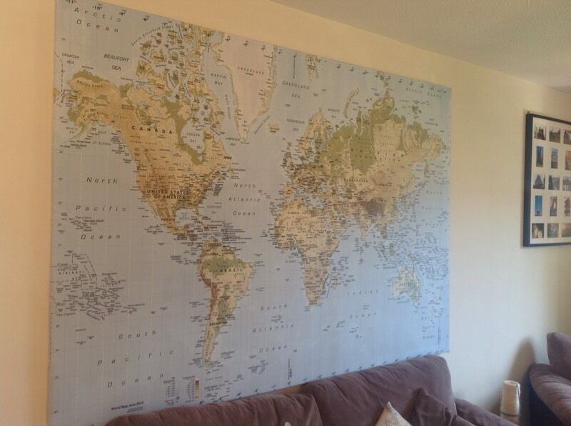 IKEA PREMIAR world map canvas in Yatton Bristol Gumtree