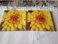 2 canvas sunflower pictures £4 both