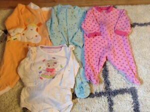 Girls clothes size NB- 6 months