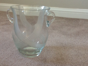 Crystal Vase and Water Pitcher