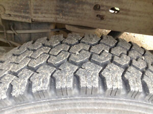 2 x Set of Four 10 Ply Winter Tire & Rim Package - LIKE NEW