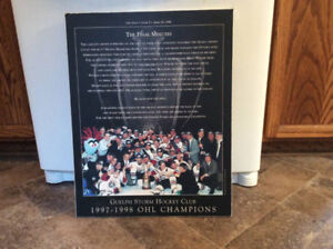 "GUELPH STORM HOCKEY CLUB ""THE FINAL MINUTES"" poster board !"