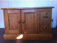 Antique pine low level cupboard