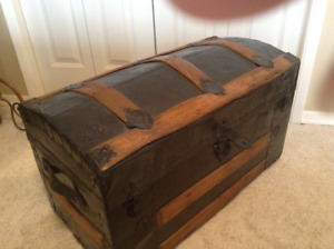 Antique Trunk with Curved Top