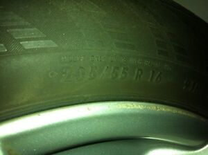 4--16 Inch by7 Original BMW Rims and Tires London Ontario image 2
