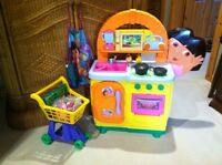 Dora Kitchen plus Grocery Cart and Extras