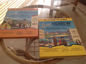 Language cassettes,Hebrew and german