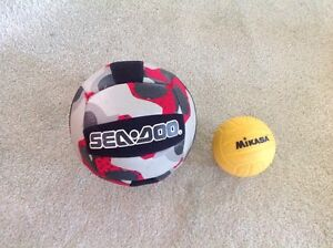 Kid size... Indoor VOLLEYBALL.....CLOTH COVERED AND SPONGY