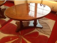 Mahogany coffee table, side table & TV Cabinet