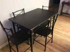 New dining table and 4 chairs