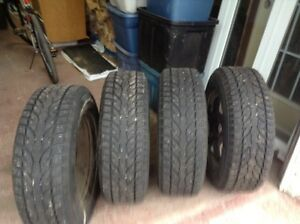 4 Studded winter tires and rims to fit 2013 GMC Terrain