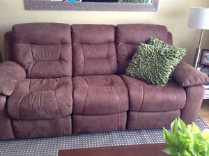 Power Reclining Couch and Chair