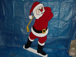 Hand-painted wooden Christmas lawn ornaments London Ontario image 4