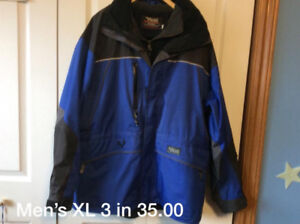 Men's jackets and cloths