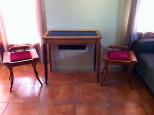 Unique Art Furniture Hallway Console Table and Stools